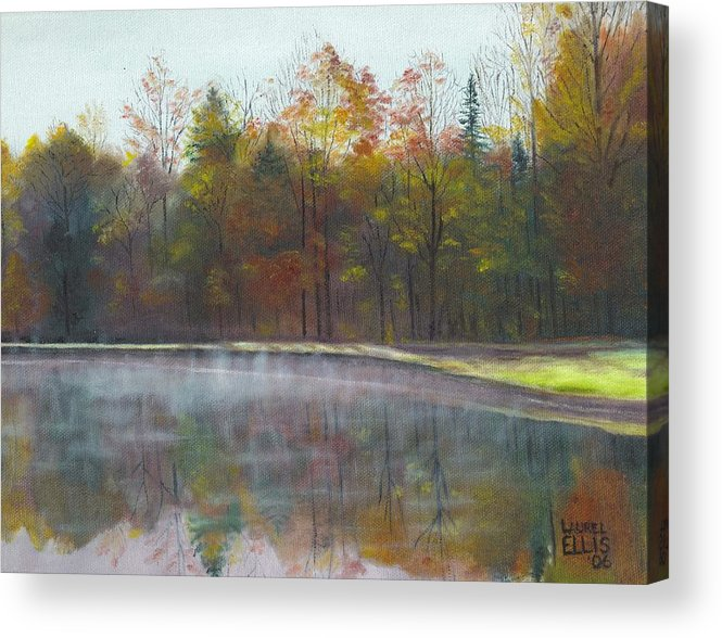 Landscape Acrylic Print featuring the painting Kennison Pond by Laurel Ellis