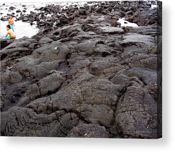 Lava Acrylic Print featuring the photograph Lava Rock Island by Deborah Crew-Johnson