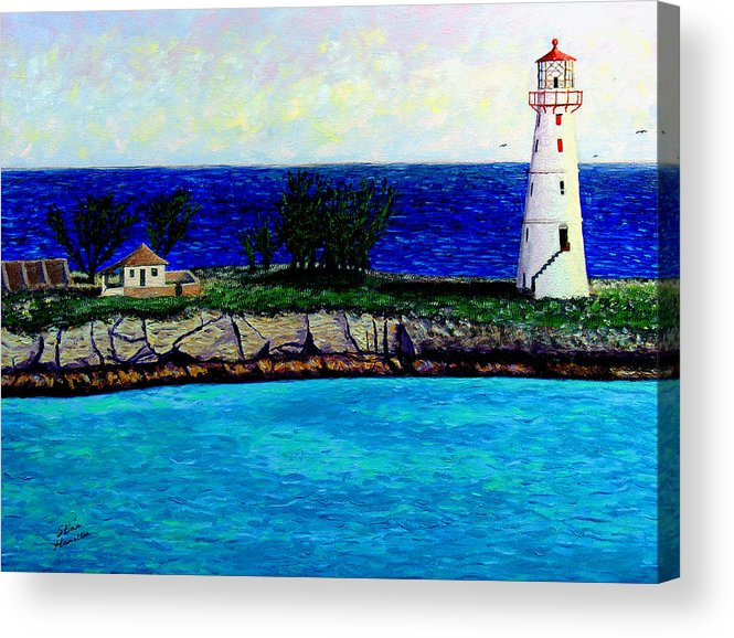 Lighthouse Acrylic Print featuring the painting Lighthouse III by Stan Hamilton