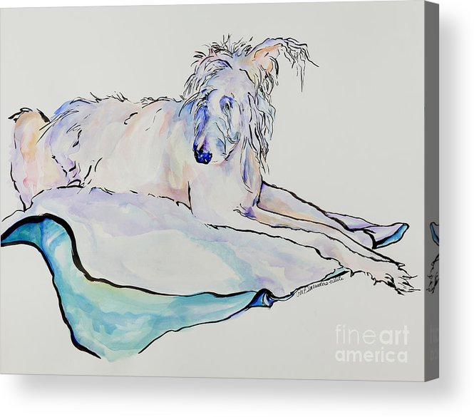 Animal Portrait Acrylic Print featuring the painting Maevis by Pat Saunders-White