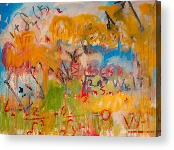 Math Acrylic Print featuring the painting Math II by Michael Henderson