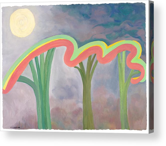 Mercy Acrylic Print featuring the painting Mercy Nights by Nancy Brockett