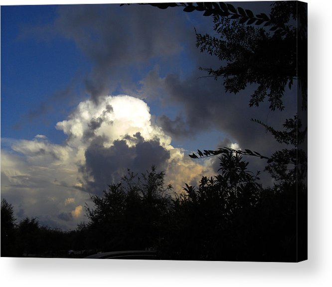 Sky Acrylic Print featuring the photograph Morning Storm Approaching by Frederic Kohli