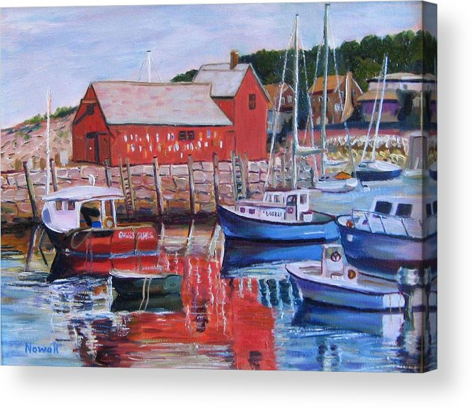 Rockport Acrylic Print featuring the painting Motif Number One by Richard Nowak
