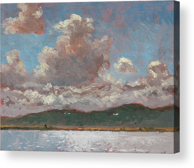 Pack Acrylic Print featuring the painting Mouth Of The Pack River by Robert Bissett