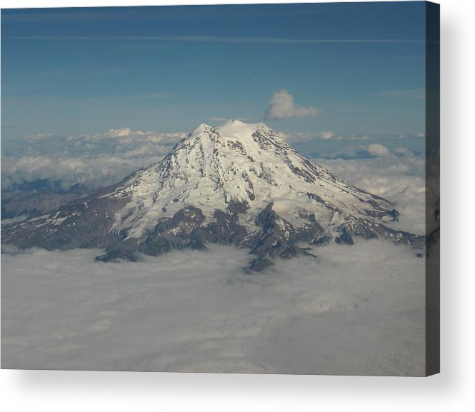 Mountain Acrylic Print featuring the photograph Mt Ranier by Janet Hall