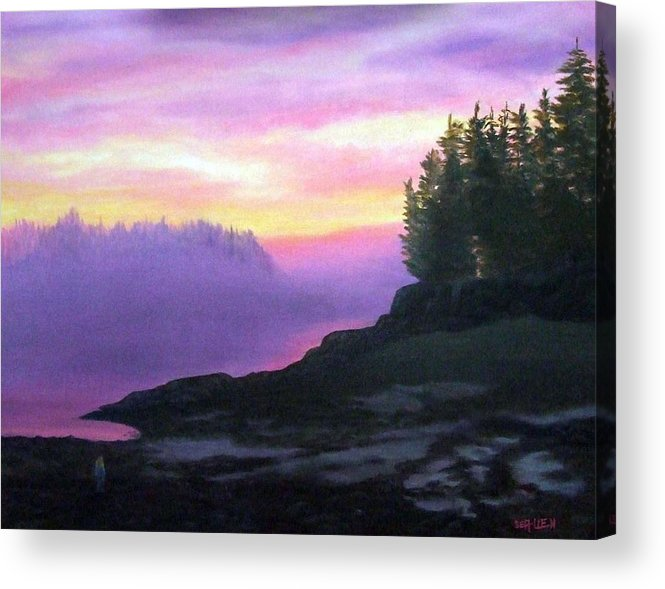 Sunset Acrylic Print featuring the painting Mystical Sunset by Sharon E Allen