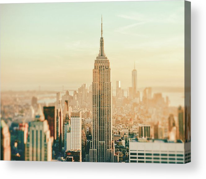 Nyc Acrylic Print featuring the photograph New York City - Skyline Dream by Vivienne Gucwa