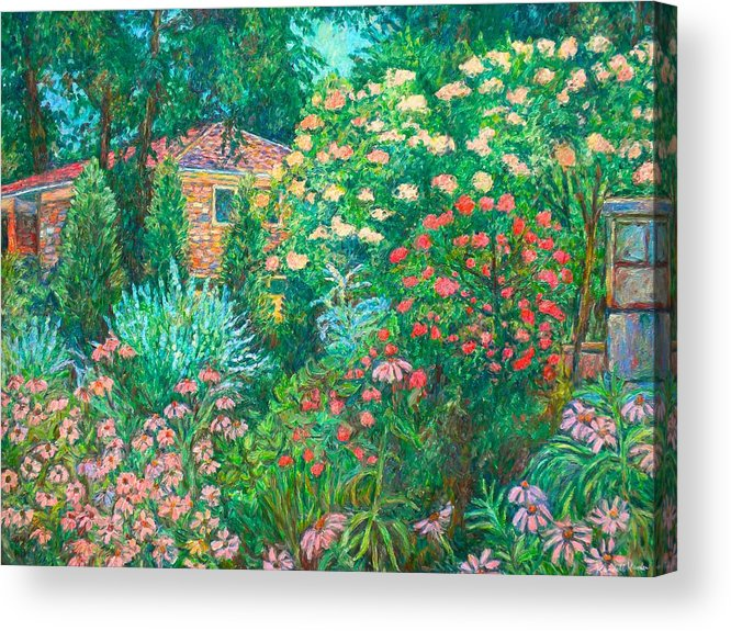 Garden Acrylic Print featuring the painting North Albemarle in McLean VA by Kendall Kessler