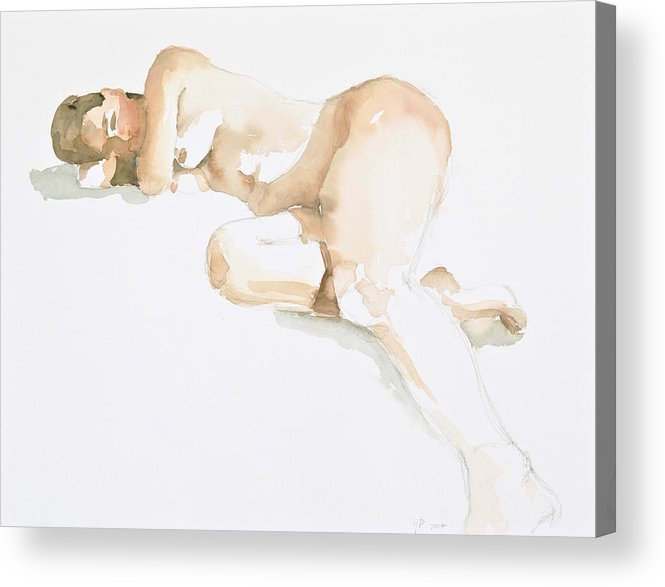 Nude Woman Acrylic Print featuring the painting Nude by Eugenia Picado
