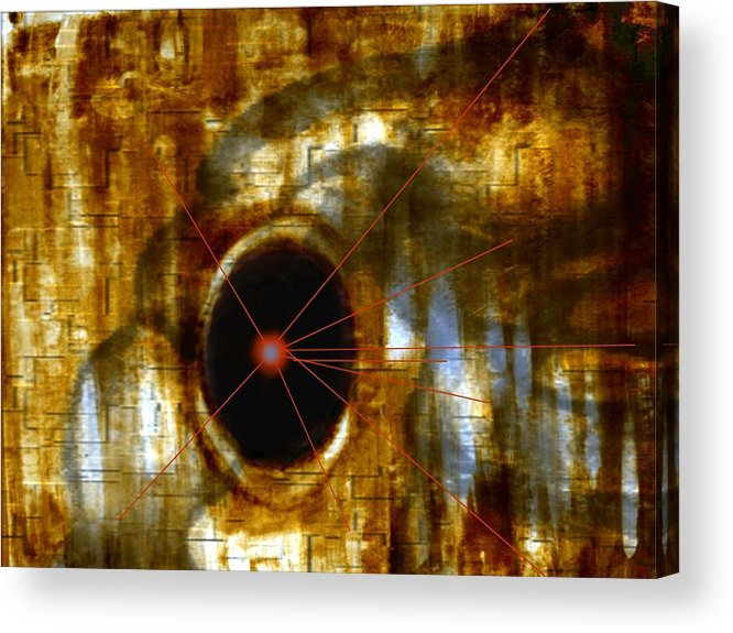 Abstract Figure In Form Acrylic Print featuring the digital art Number 9 by Joseph Ferguson