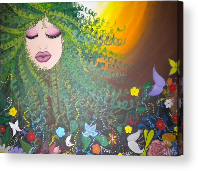 Face Acrylic Print featuring the painting Nurture by Hollie Leffel