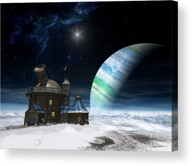 Space Acrylic Print featuring the digital art Observatory by Cynthia Decker