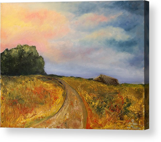 Landscape Acrylic Print featuring the painting Obviously Covered by Darko Topalski