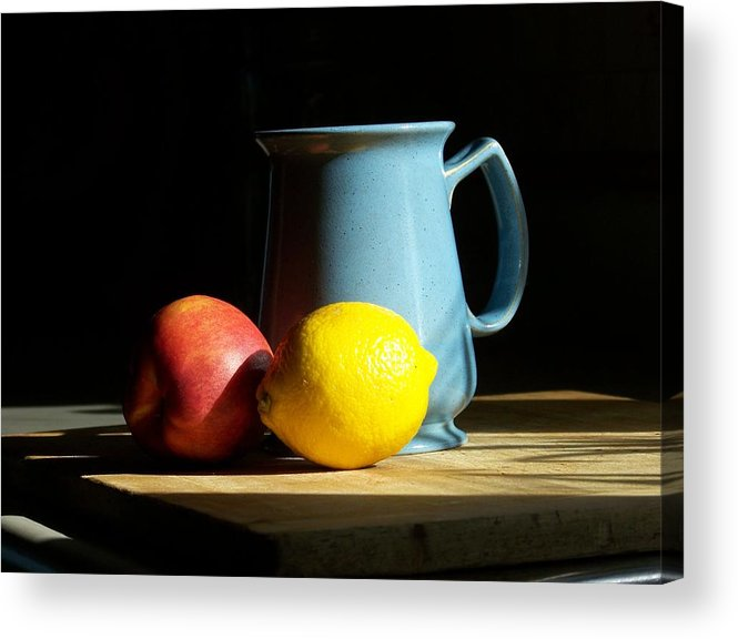 Still Life Acrylic Print featuring the photograph On The Table 1- Photograph by Jackie Mueller-Jones
