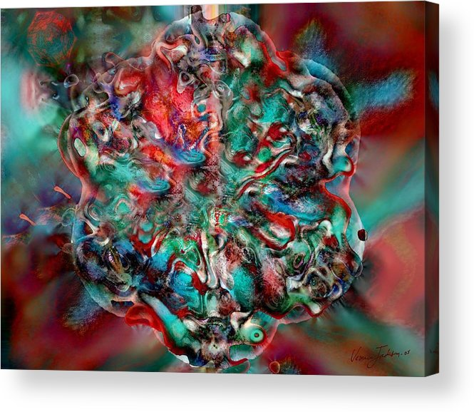 Heart Passion Life Acrylic Print featuring the digital art Open Heart by Veronica Jackson