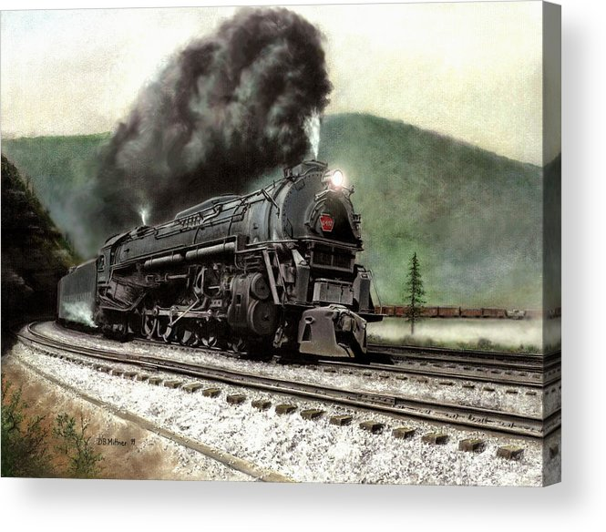 Acrylic Print featuring the painting Power on the Curve by David Mittner
