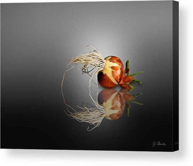 Onion Acrylic Print featuring the photograph Reflected Onion No. 2 by Joe Bonita