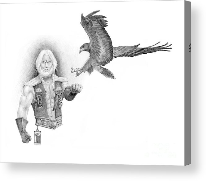 Barbarian Acrylic Print featuring the painting Revan Ramstedder by Melissa A Benson