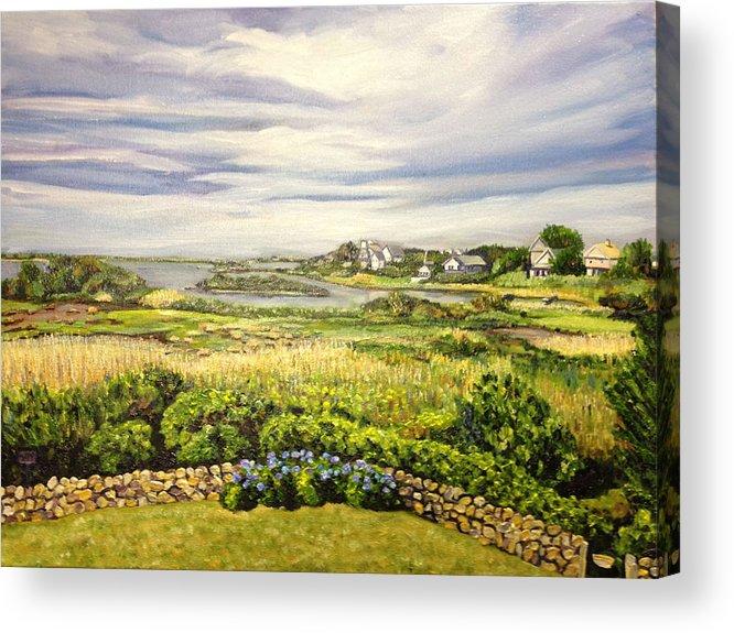 Rhode Island Acrylic Print featuring the painting Rhode Island Coast by Richard Nowak