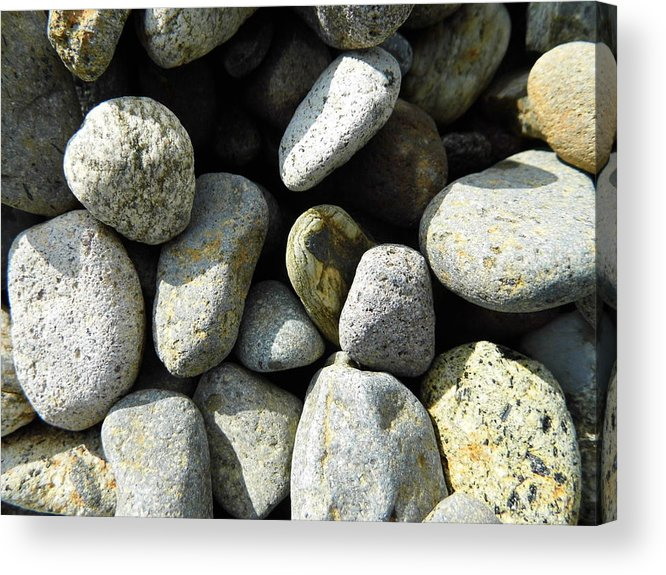 Rock Acrylic Print featuring the digital art Rocks by Palzattila