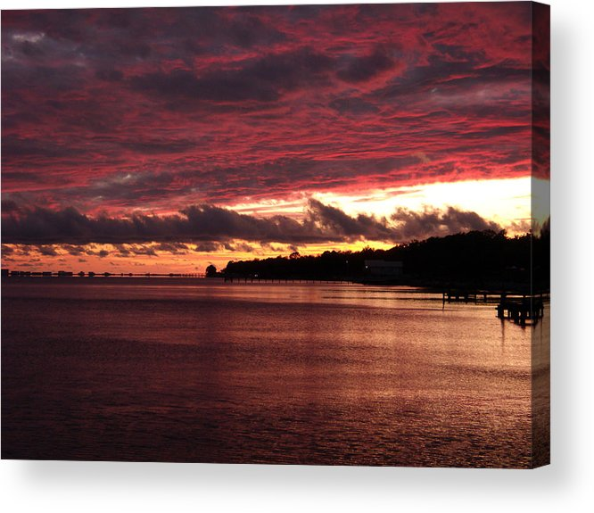 Sunset Acrylic Print featuring the photograph Rose Colored World by Nicole I Hamilton