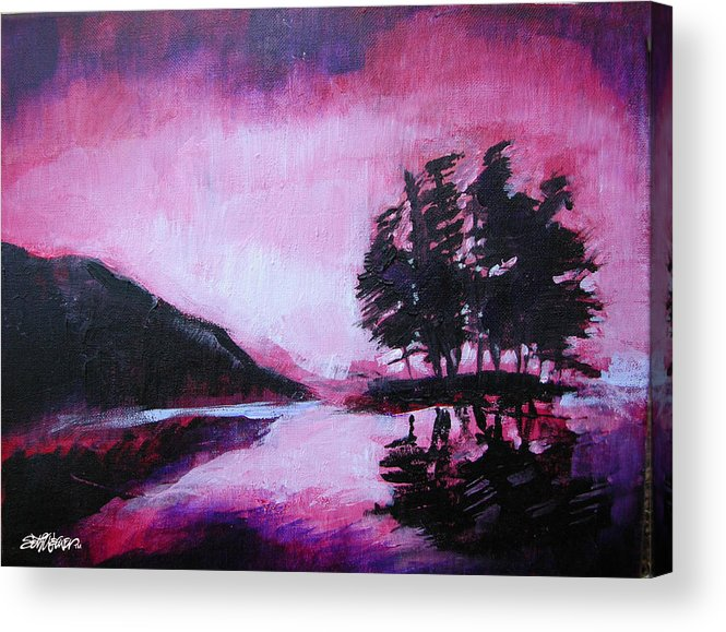 Ruby Dawn Acrylic Print featuring the painting Ruby Dawn by Seth Weaver