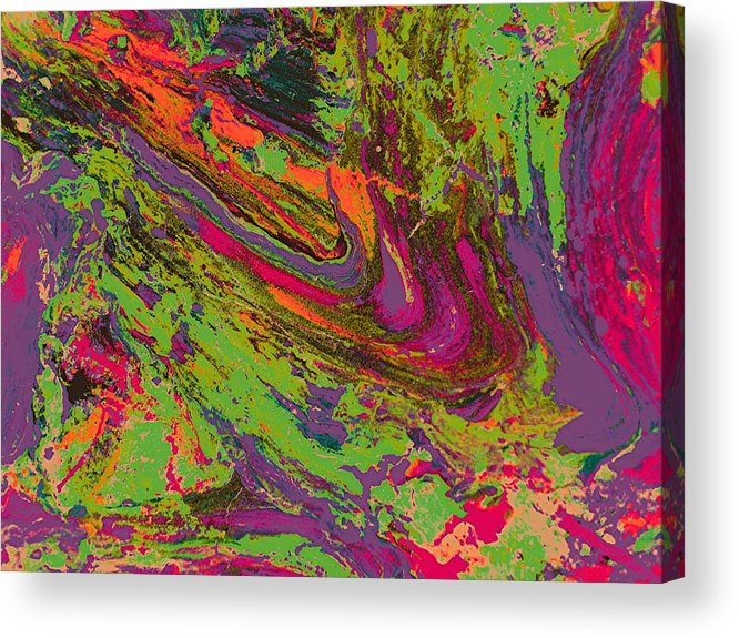 Abstract Prints Acrylic Print featuring the digital art Rusted Metal 1 by Teo Santa