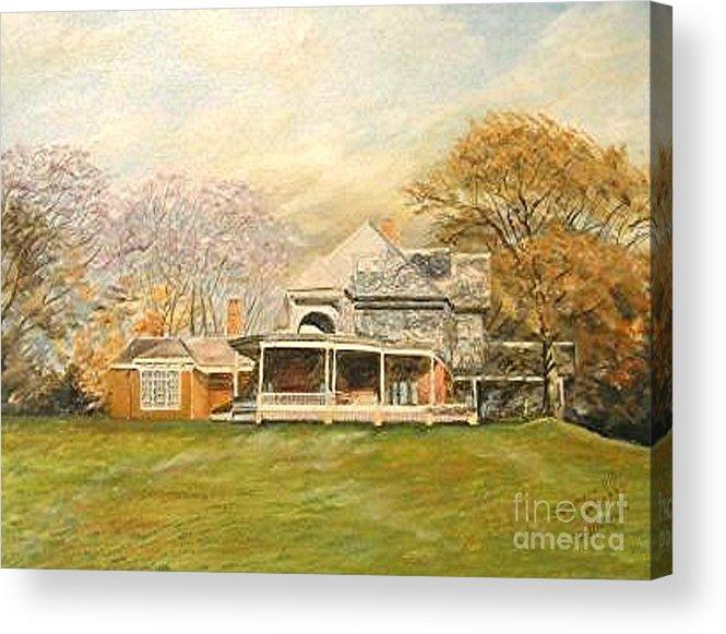 Landscape Painting Sagamore Hill. Acrylic Print featuring the painting Sagamore Hill by Nicholas Minniti