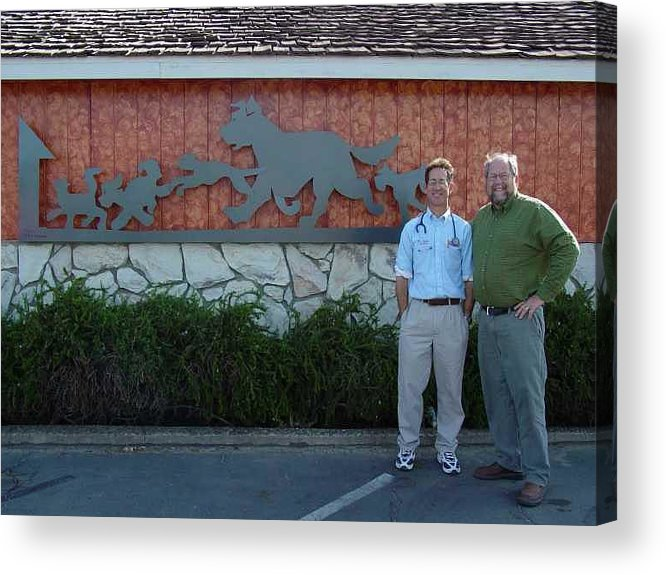 Corporate Commissions Acrylic Print featuring the sculpture Salida Veterinary Clinic   SOLD by Steve Mudge