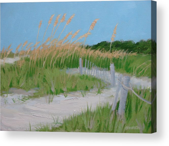 Sane Dunes Acrylic Print featuring the painting SAND DUNES No. 3 by Robert Rohrich