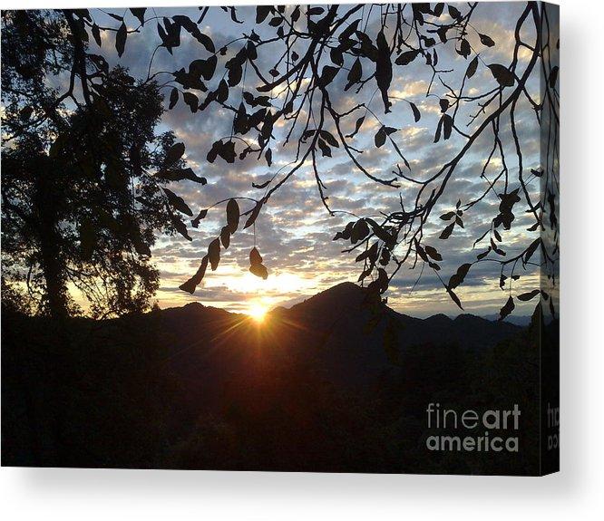 Sky Acrylic Print featuring the photograph September Sunset 11 by Padamvir Singh