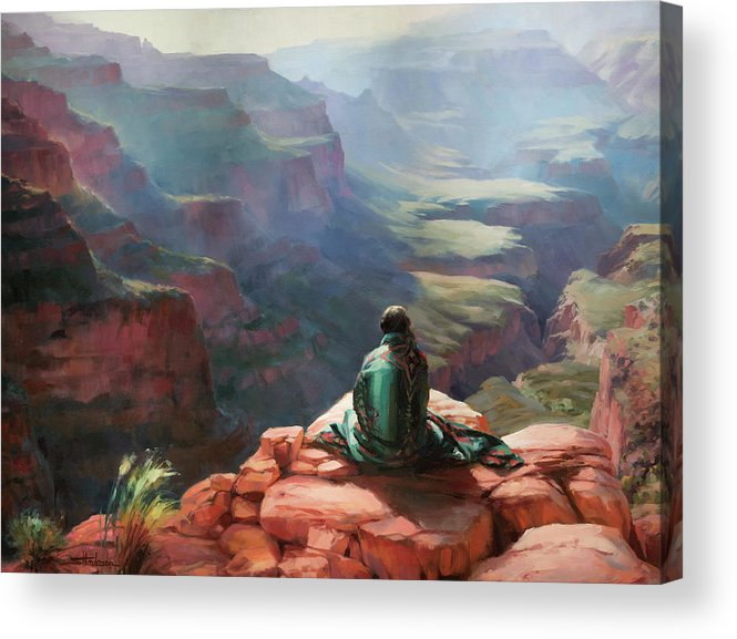 Southwest Acrylic Print featuring the painting Serenity by Steve Henderson