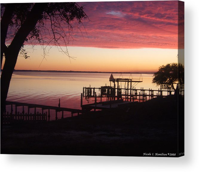 Silhouette Acrylic Print featuring the photograph Silhouettes by Nicole I Hamilton