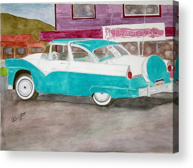 Car Acrylic Print featuring the painting Skagway Gold by Larry Wright
