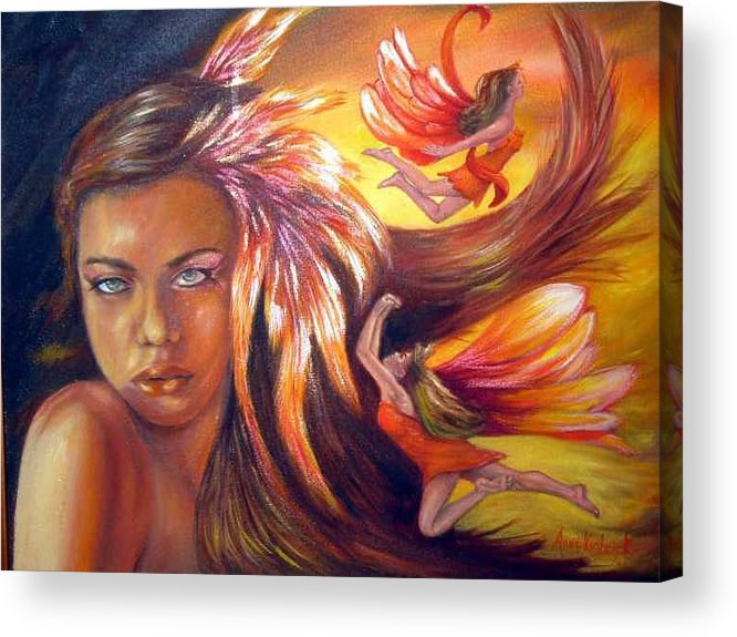 Acrylic Print featuring the painting Soulfire by Anne Kushnick