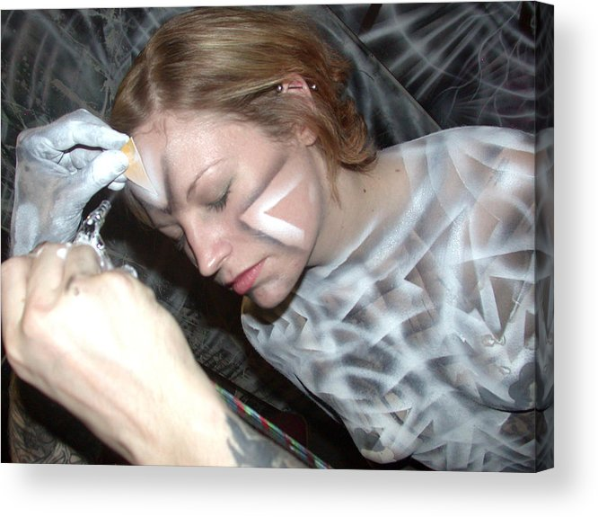 Body Paint Acrylic Print featuring the painting Spiral 1 by Leigh Odom
