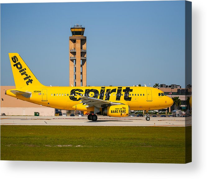 Airplane Acrylic Print featuring the photograph Spirit Airline by Dart and Suze Humeston