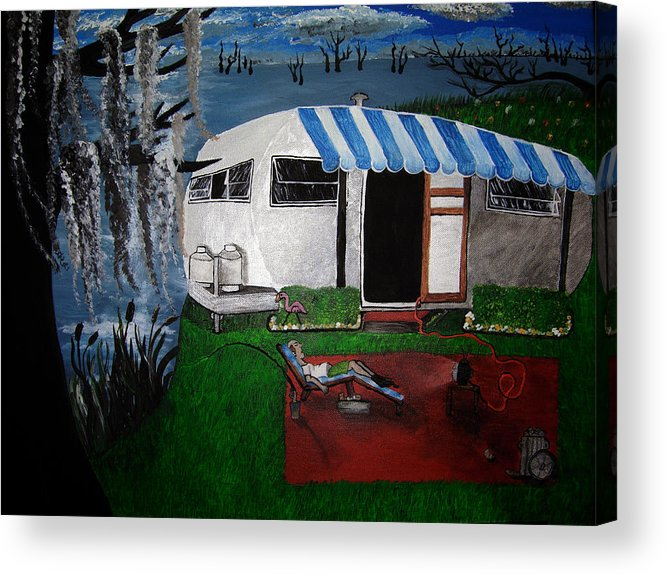 Trailer Acrylic Print featuring the painting Stereotype by Sharon Supplee