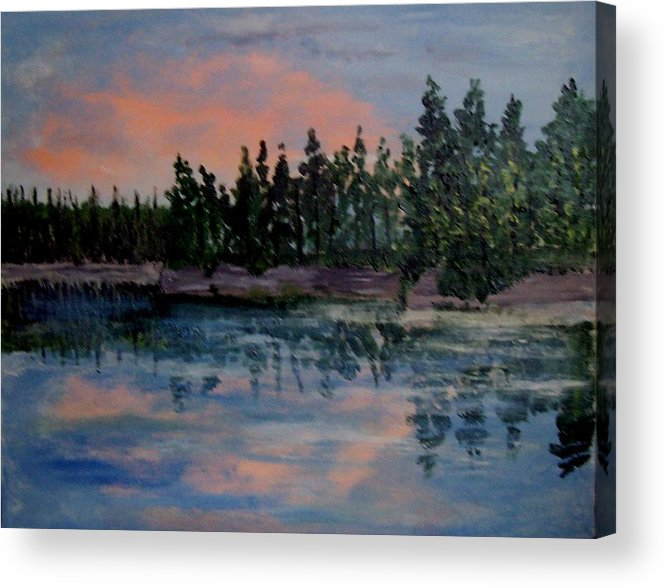 Beaches Acrylic Print featuring the painting Still by Richard Hubal