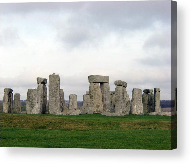 Stonehenge Acrylic Print featuring the photograph StoneHenge by Amanda Barcon