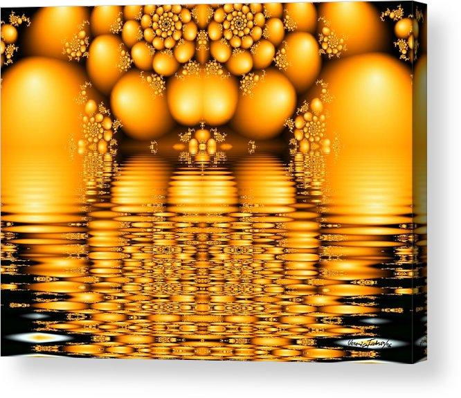 Tangerine Orange Water Sacred Tears Acrylic Print featuring the digital art Tangerine tears by Veronica Jackson
