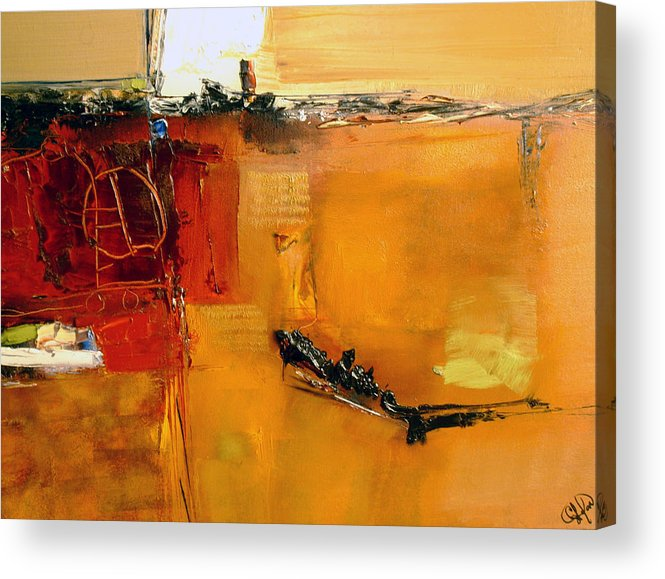 Abstract Acrylic Print featuring the painting Thankyou Consequence by Stefan Fiedorowicz