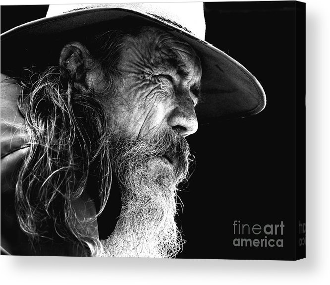 Australian Bushman Hat Acrylic Print featuring the photograph The Bushman by Sheila Smart Fine Art Photography