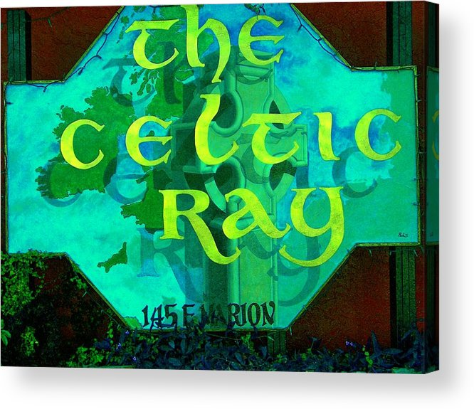Ireland Acrylic Print featuring the painting the Celtic Ray by Charles Peck