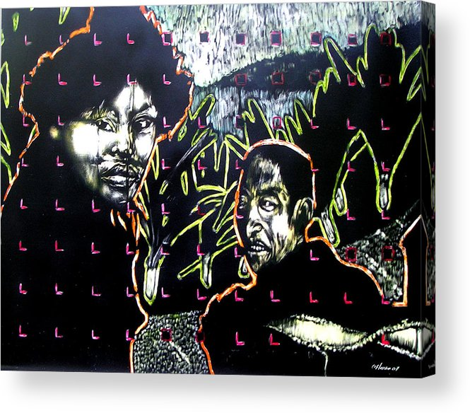 Acrylic Print featuring the mixed media The Coffee Vendor by Chester Elmore