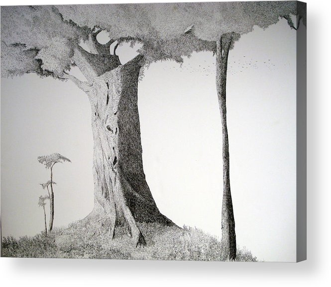 Landscape Acrylic Print featuring the painting The Mother Lode by A Robert Malcom