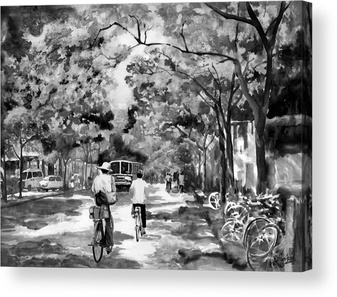 Xian Acrylic Print featuring the painting Tradition Vs Modernism by Eileen Fong