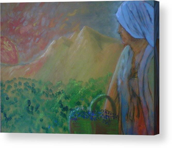 Sunset Acrylic Print featuring the painting Tuscan Sunset by J Bauer