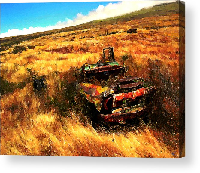 Upcountry Acrylic Print featuring the digital art Upcountry Wreck by Kenneth Armand Johnson